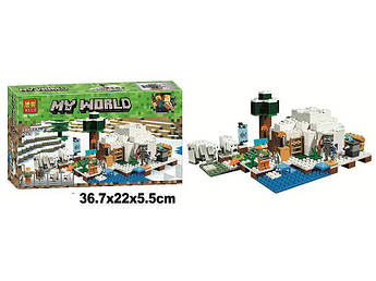 Конструктор Bela Полярное иглу Lego Майнкрафт Minecraft, 284 деталей