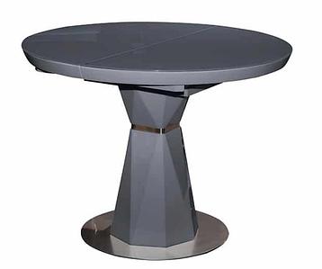 Стол раскладной Раунд 100-130*100 см серый ТМ Prestol