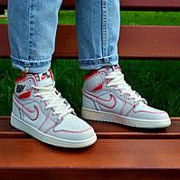 Женские кроссовки Nike Air Jordan 1 Retro High OG White/Red