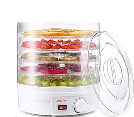 Сушилка для фруктов и овощей диаметр 28см Дегидратор Zepline ZP-029 Сушильный аппарат для фруктов