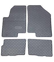 Kia Soul (Чехія) Гумові килимки в салон (4шт.) Килимки автомобільні Кіа Соул 2009+ рік. Чорний