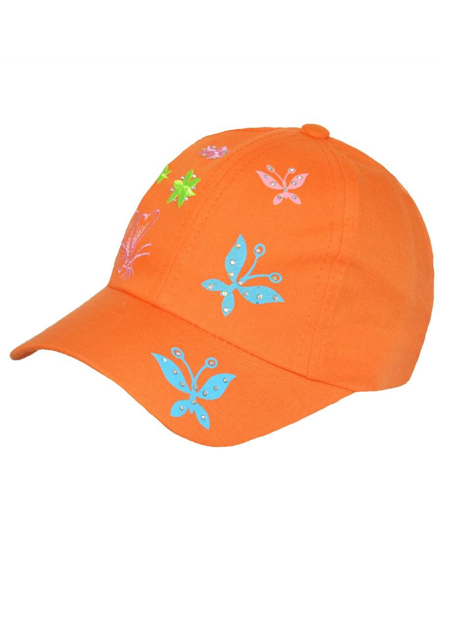 Кепка дитяча для дівчинки з метеликами