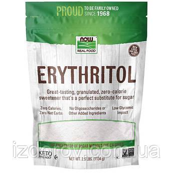 Now Foods, Real Food, Эритритол (эритрит), натуральный подсластитель Erythritol, 1134г (2,5фунта)