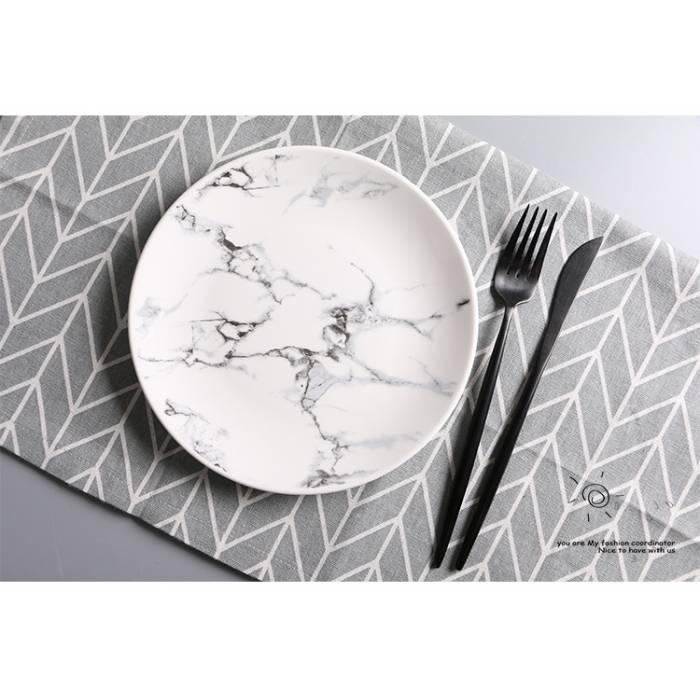 Керамічна тарілка Творчий мармур 20 см