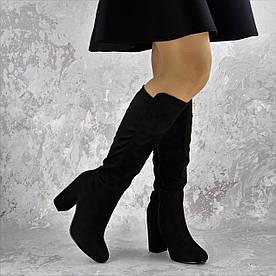 Женские сапоги на каблуке Fashion Luna 1450 40 размер 25,5 см Черный