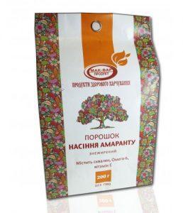Шрот насіння амаранту 200 г пакет Мак-Вар