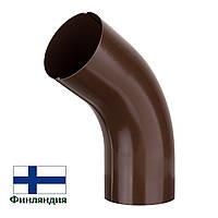 Колено металлическое, коричневое, 87мм (1 сорт)