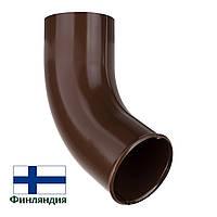 Сливное колено металлическое, коричневое, 87мм (1 сорт)