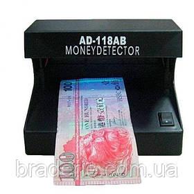 Детектор валют настольный ультрафиолетовый AD-118AB , питание 4AA батарейки