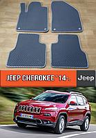 ЕВА коврики Джип Чероки 2014-н.в. Ковры EVA на Jeep Cherokee