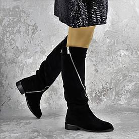 Сапоги женские Fashion Sage 2169 36 размер 23,5 см Черный