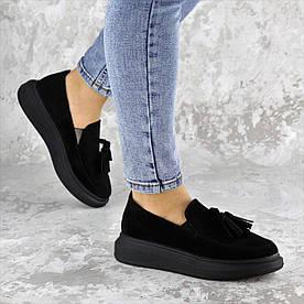 Слиперы жіночі Fashion Pansy 2142 38 розмір 24,5 см Чорний
