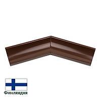 Угол желоба внешний металлический 135°, коричневый, 125мм (1 сорт)