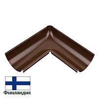Угол желоба внутренний металлический 90°, коричневый, 125мм (1 сорт)