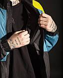 Ветровка - зиппер мужская Пушка огонь Retro бирюзовая, фото 2
