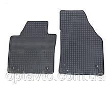 Volkswagen Caddy (Чехія) Гумові килимки в салон (2шт.) Килимки автомобільні Фольксваген Кадді 2008+ Чорний