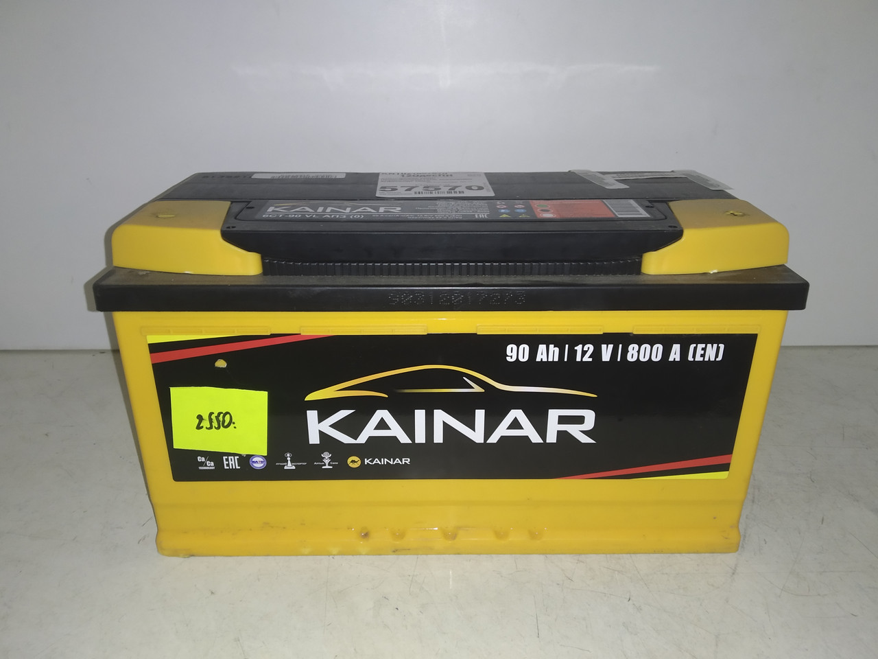 Акумулятор 90Ah KAINAR Standart 800A R (Правий+ Євро)