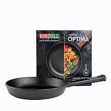 Сковорода чугунная тм brizoll 260х60 мм с ручкой  optima-black