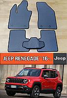 ЕВА коврики Джип Ренегат 2016-н.в. Ковры EVA на Jeep Renegade