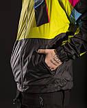 Ветровка - зиппер мужская Пушка огонь Retro салатовая, фото 8
