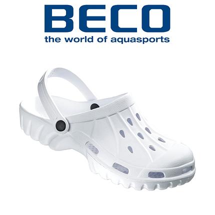 Тапочки сабо мужские BECO 90761 1 белые, фото 2