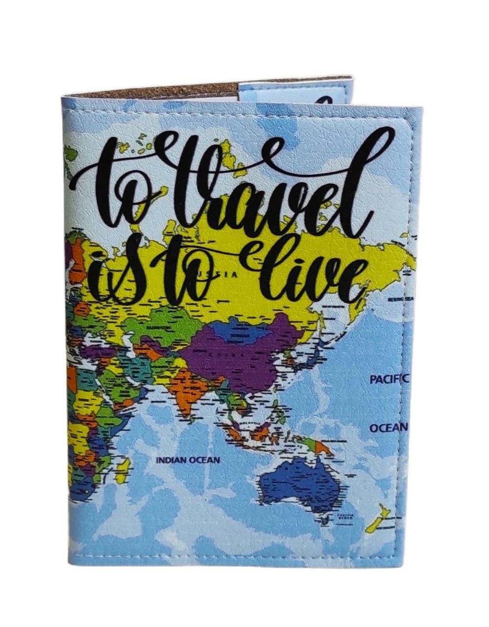 Обкладинка на біометричний, закордонний або внутрішній паспорт з принтом