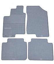 Kia Magentis (Чехія) Гумові килимки в салон (4шт.) Килимки автомобільні Кіа Маджентис 2006+ р. Чорний