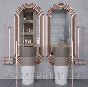 Зеркало настенное  Casa Verdi Zero  174 см х 80 см С рамой МДФ, размер зеркала 148 см х 55 см