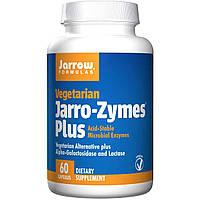 Комплекс Ферментов для облегчения пищеварения, Jarro-Zymes Plus, Jarrow Formulas, 60 вегетарианских капсул