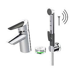 Змішувач для умивальника Oras Optima 2705F з термостатом Smart Bidetta і Smart кнопкою 38
