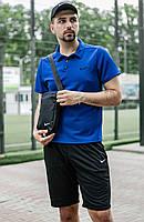 Спортивный костюм шорты футболка мужской Nike на лето с кепкой, реплика