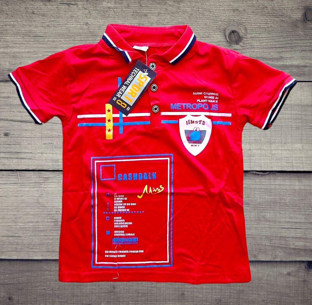 Дитяча футболка на хлопчика на гудзиках ФРІСТАЙЛ розмір М