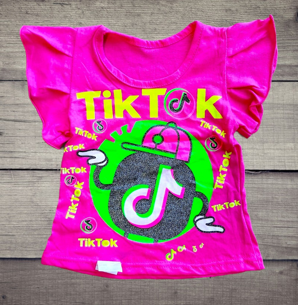 Детская футболка из кулира  Tik Tok