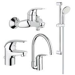 Набор смесителей Grohe Euroeco 123242K для ванной (23262000+32743000+27598001+32752000)