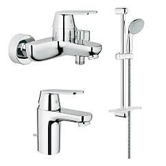Набор смесителей для ванной S-size Grohe Eurosmart Cosmopolitan 126111S
