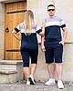 Женский спортивный костюм летний футболка и велосипедки, фото 4