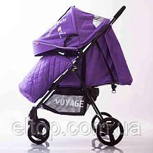 Детская прогулочная коляска Quattro Porte QP-234 Фиолетовая Коляска складная легкая Панамера Кватро фиолетовая
