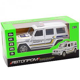 Машинка ігрова автопром «Поліцейський автомобіль» джип, метал, 15 см (світло, звук) 7844-4