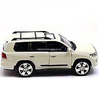 Машинка ігрова автопром «Lexus» Лексус джип, метал, 18 см, Білий (світло, звук, двері відкриваються) 7664, фото 2