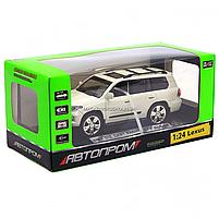 Машинка ігрова автопром «Lexus» Лексус джип, метал, 18 см, Білий (світло, звук, двері відкриваються) 7664, фото 5