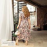Літній яскравий сарафан з ефектом запаху тканину софт розміри більші від 48 до 66, фото 8