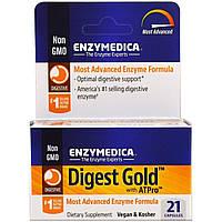 Пищеварительные ферменты, Digest Gold с ATPro, Enzymedica, 21 капсула