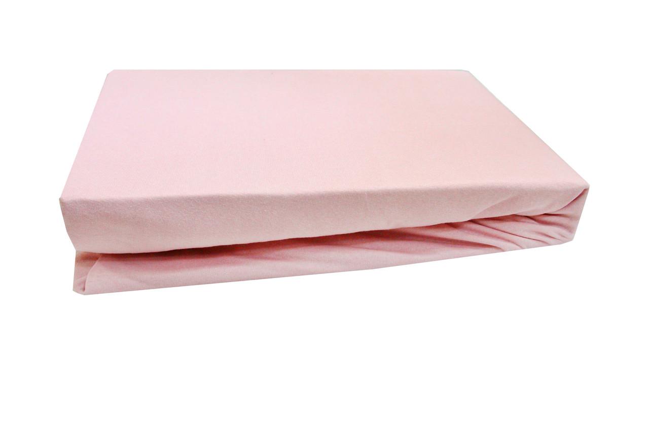 Простирадло трикотажне на резинці 90х200+25 Light House темно-рожевий