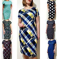 Летнее платье женское 66 большой размер (50,52,54,56,58,60,62,64,66) трикотажное