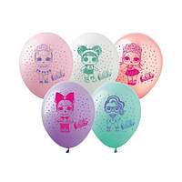 """Набір кульок повітр. 12""""/30см """"Лялька Лол"""" 10шт №828025/Pelican/(1)"""