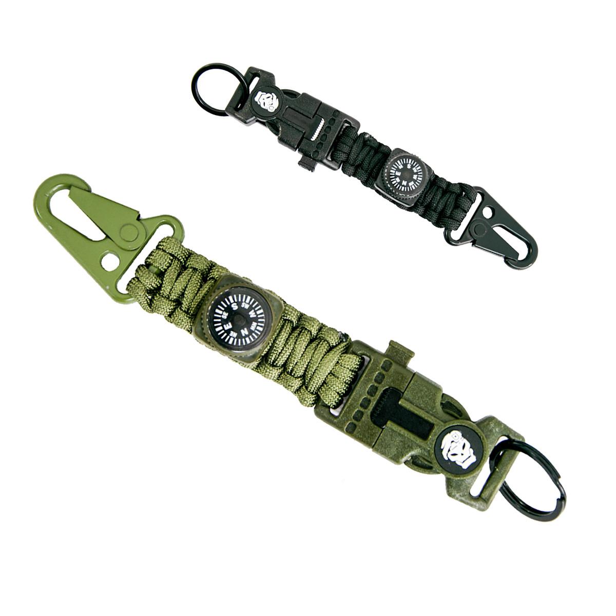 Браслет з паракорду тактичний Paracord Fire Starter Bracelet TY-1619 браслет виживання 4 в 1 (Хакі)