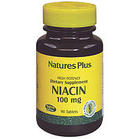Ниацин, Niacin, 100 мг, Natures Plus, 90 таблеток