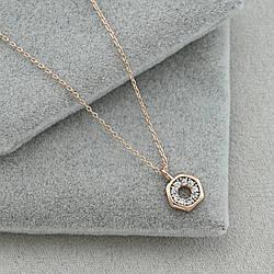 Колье Xuping 32977 ширина 1 мм белые фианиты позолота РО длина 46+5