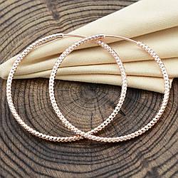 Серьги Xuping кольца 33010 размер 45х2 мм вес 6.2 г позолота РО