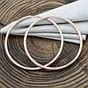 Серьги Xuping кольца 33010 размер 45х2 мм вес 6.2 г позолота РО, фото 3